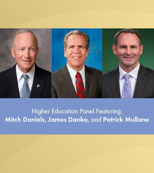 Mitch Daniels, James Danko, and Patrick Mullane